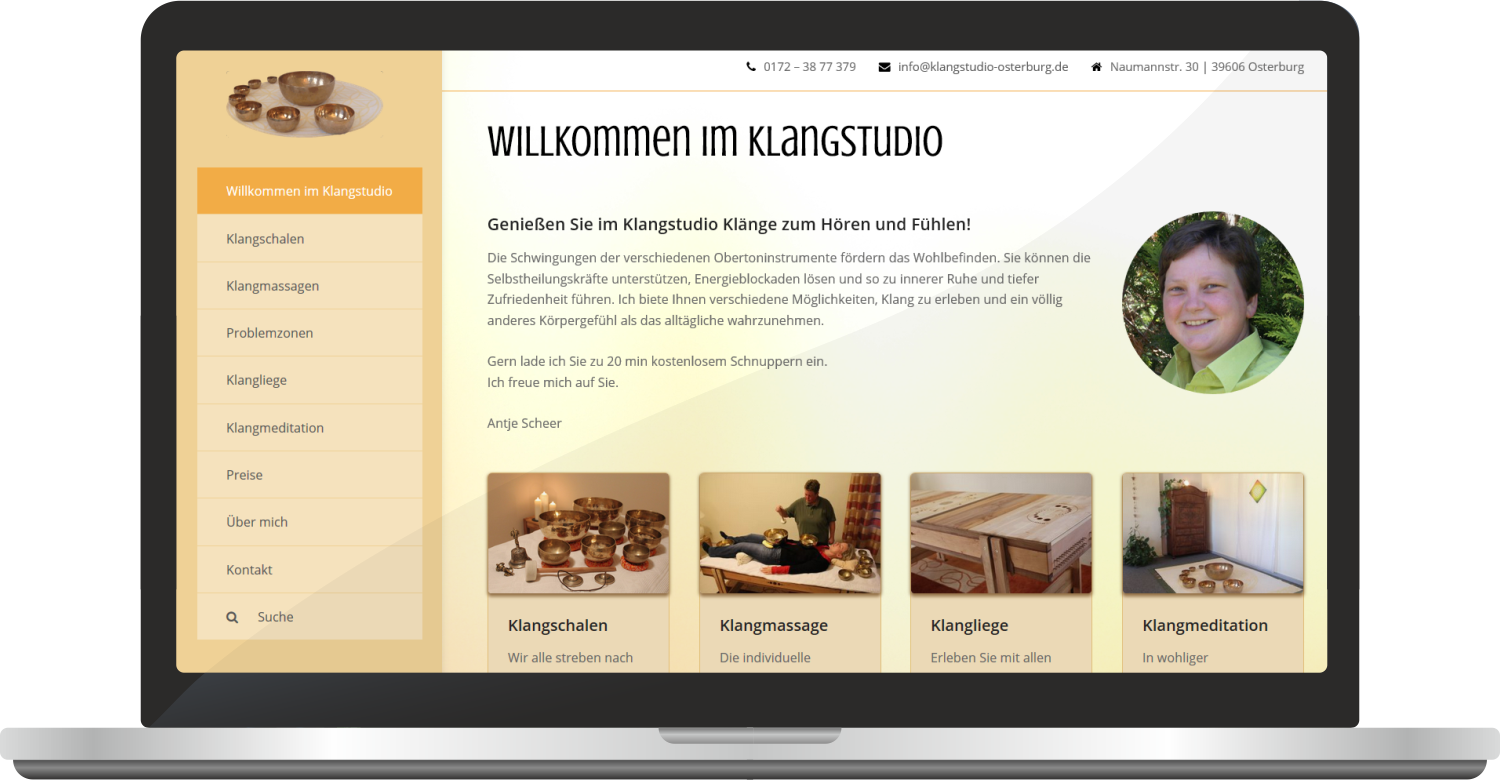 Website Klangstudio-osterburg.de