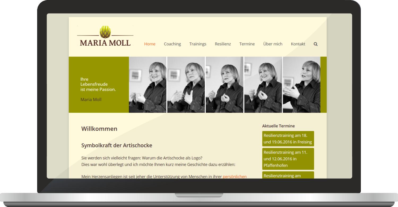 Website Maria-moll.de