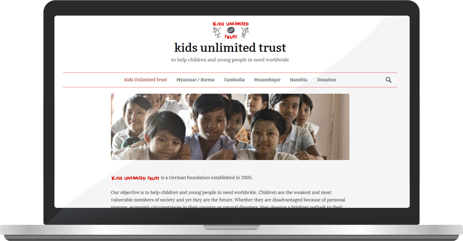Website Kids-unlimited-trust.de