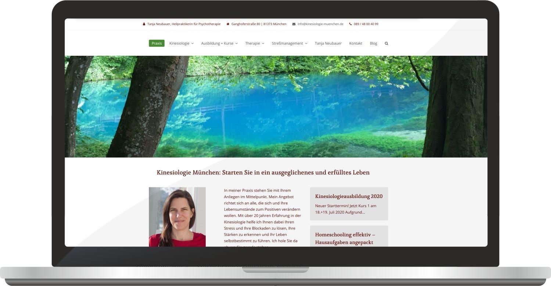 Webdesign Kinesiologie-muenchen.de