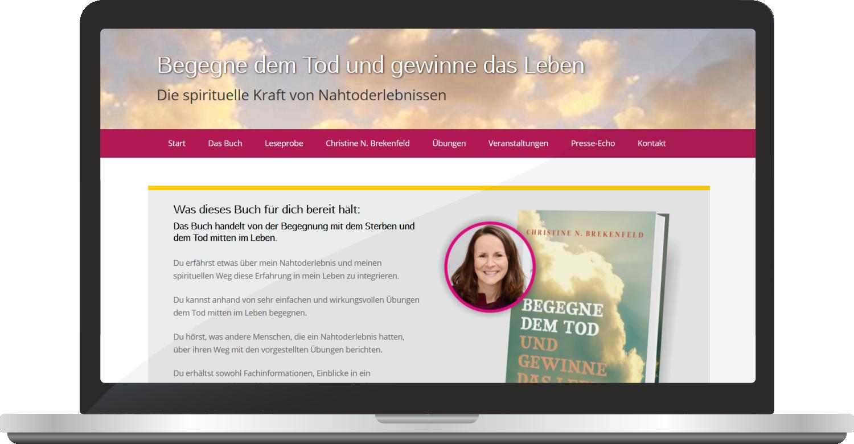 """Webdesign """"Begegne Dem Tod Und Gewinne Das Leben"""""""