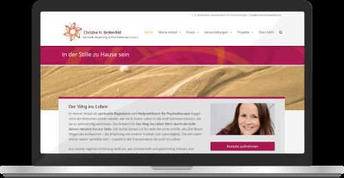 Website Www.christine-brekenfeld.de