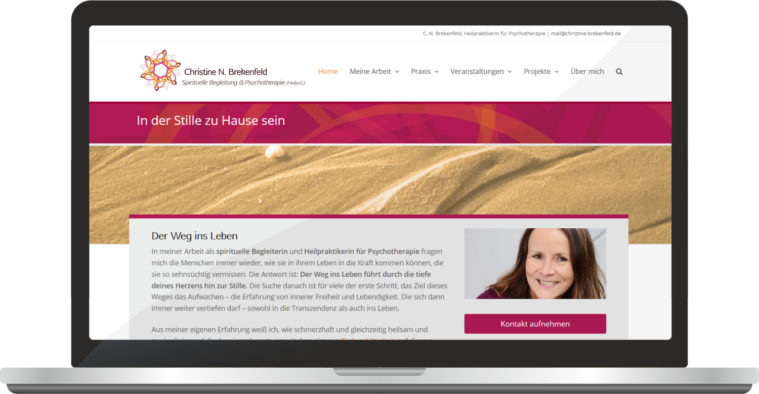 Website Www.christine-brekenfeld.de