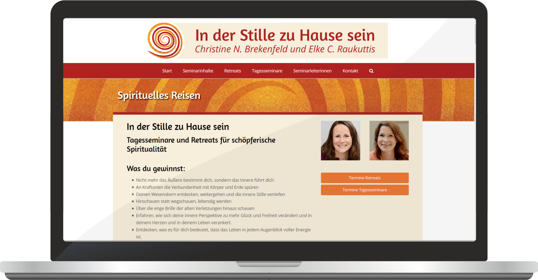 """Webdesign """"In Der Stille Zu Hause Sein"""""""