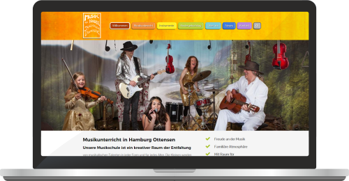 Website Musikfuerkinder.net