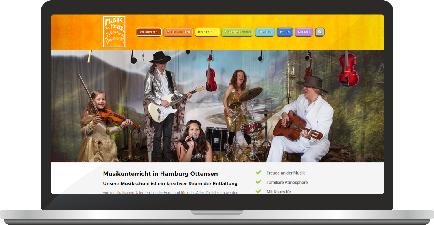 Website Musikfuerkinder.net