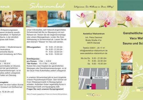 Print – Flyer Aestetica Vitalcentrum, Massagen