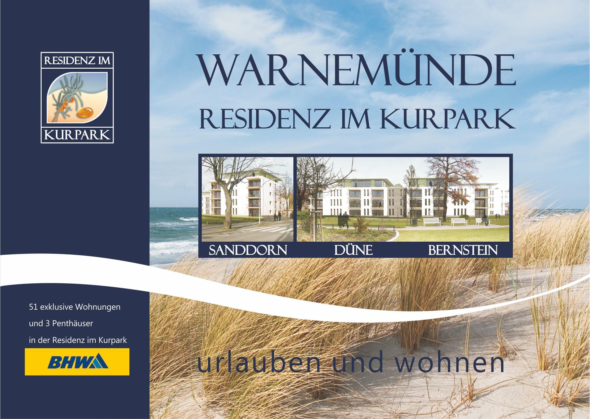 """Immobilienprospekt """"Residenz Im Kurpark"""" In Warnemünde"""