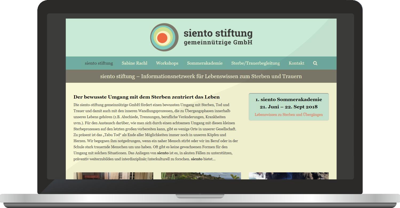 Webdesign Siento Stiftung GmbH