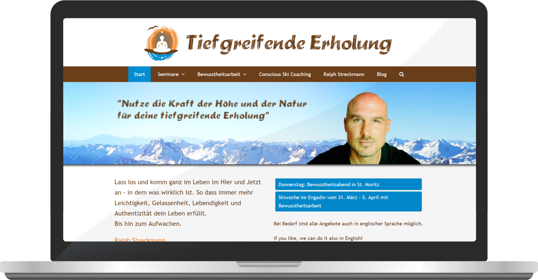 Webdesign Tiefgreifende Erholung – Ralph Streckmann